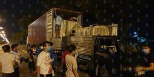 Giường tầng sắt khu cách li dịch Covid 19 tại Đà Nẵng