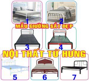 Mẫu giường sắt đơn giản, giường tầng bằng sắt đẹp tại Tứ Hưng